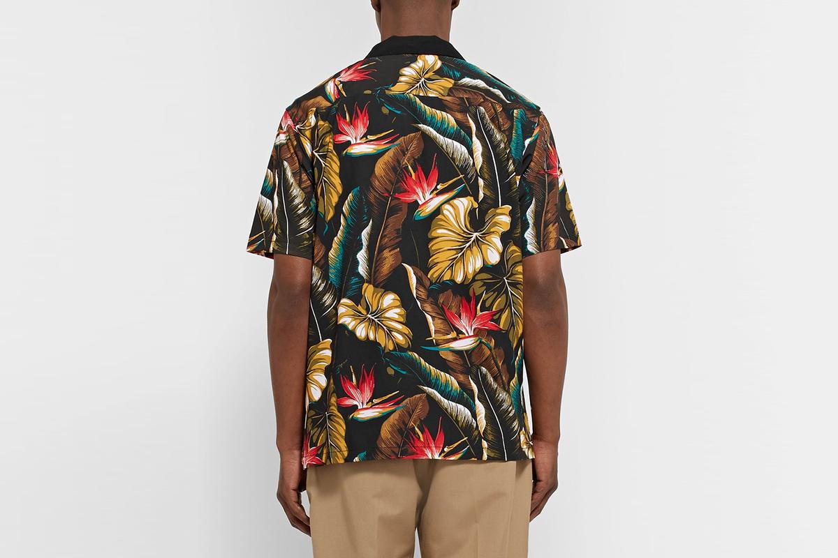 Printed Matte-Satin Shirt