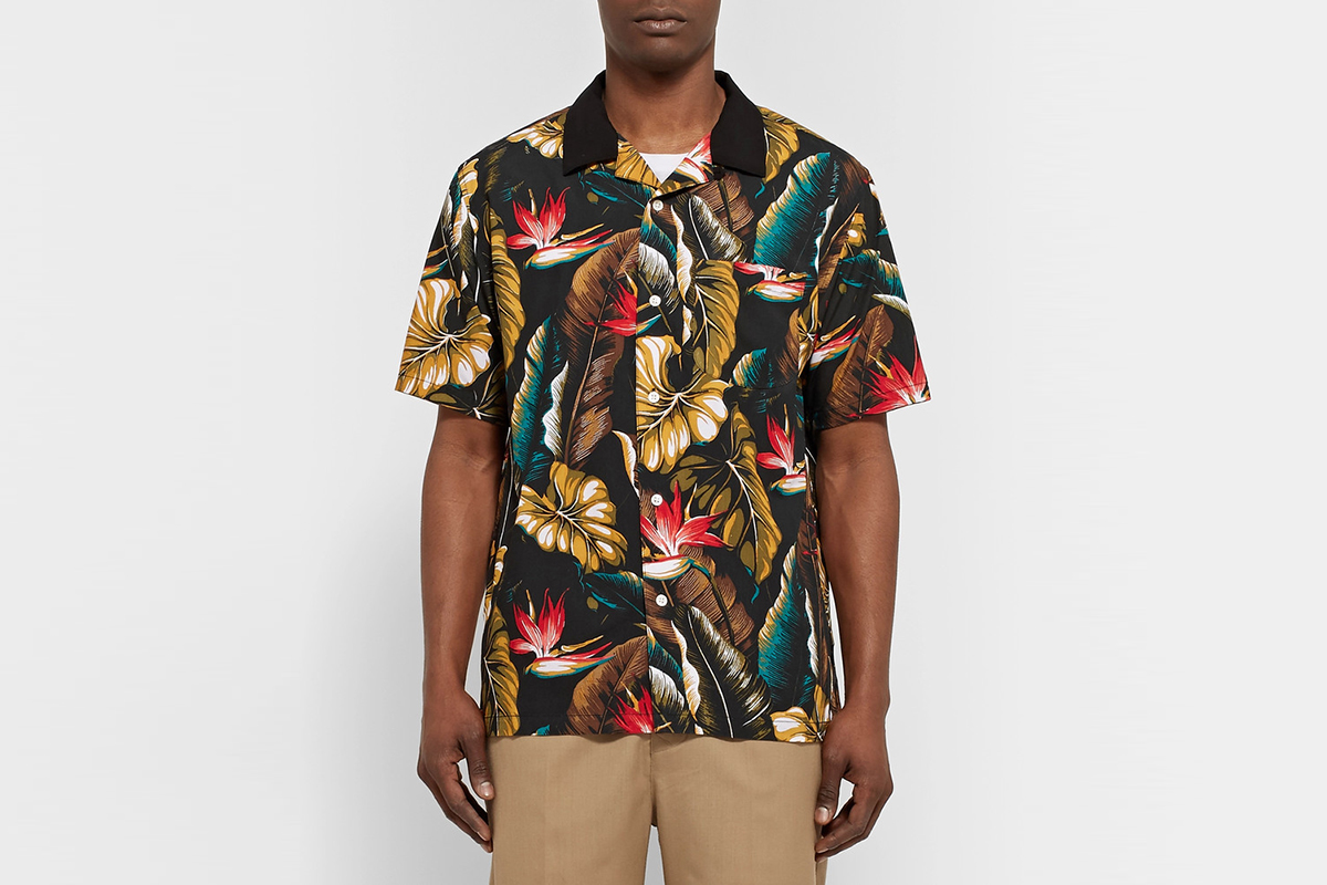 Printed Matte-Satin Shirt