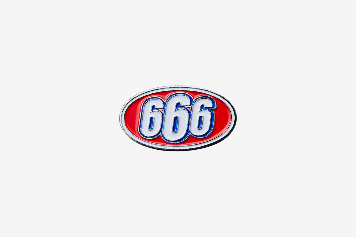 666 Oval Pin