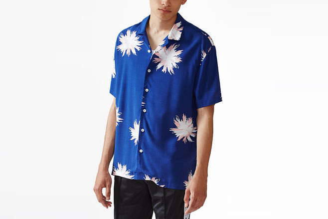 Short Sleeve Button Up Camp Shirt