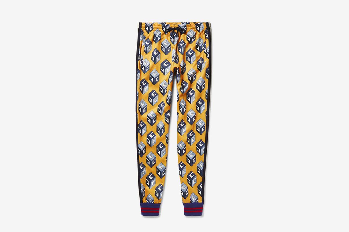 Printed Satin-Jersey Sweatpants