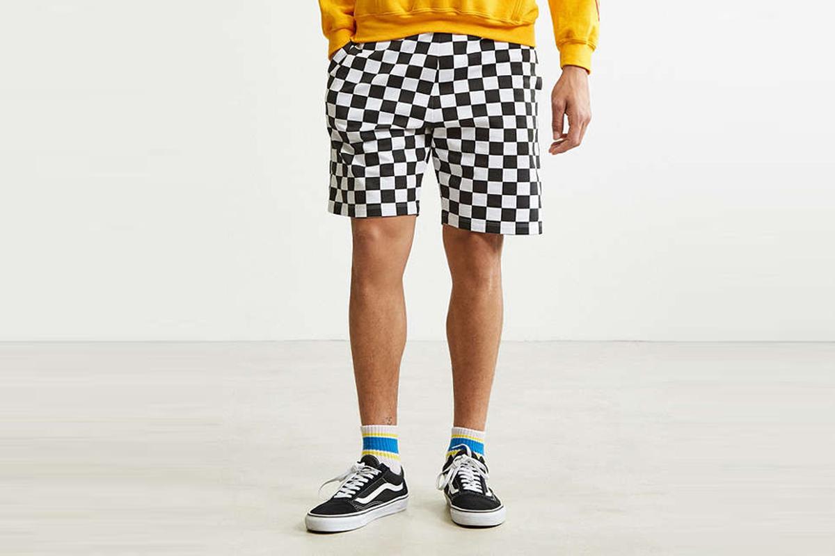 Checkerboard Knit Short