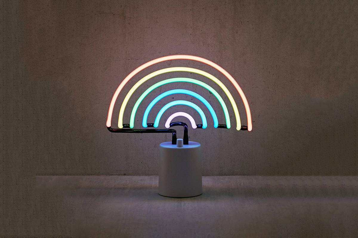 Rainbow Neon Table Lamp