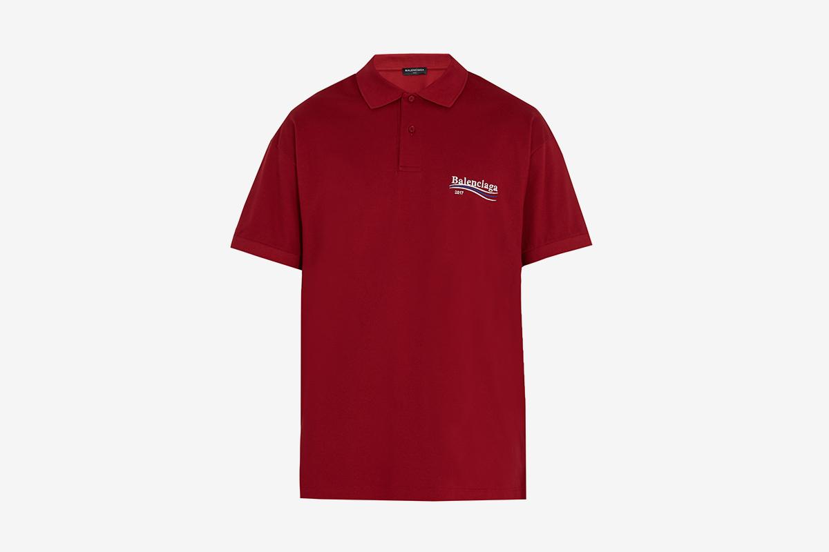 Balenciaga Logo Polo T Shirt What Drops Now