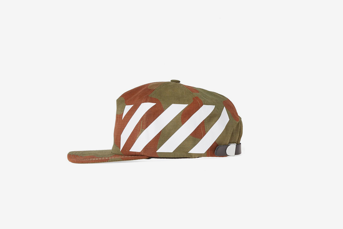 Diagonal Camouflage Cap