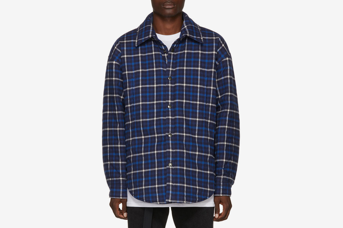 Balenciaga oversized flannel shirt what drops now for Places to buy flannel shirts