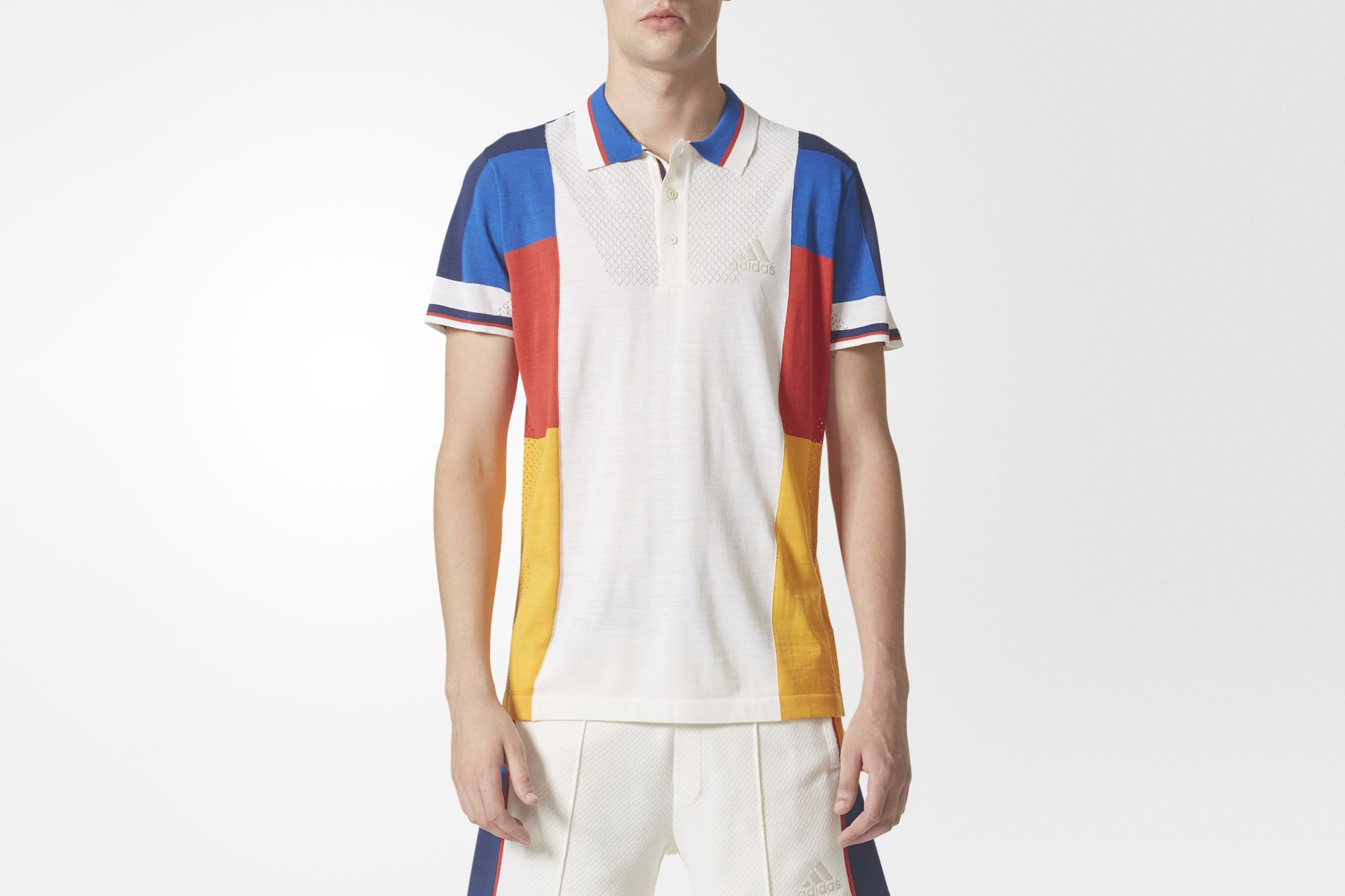Adidas x pharrell williams ny colorblock polo shirt what for Polo color block shirt