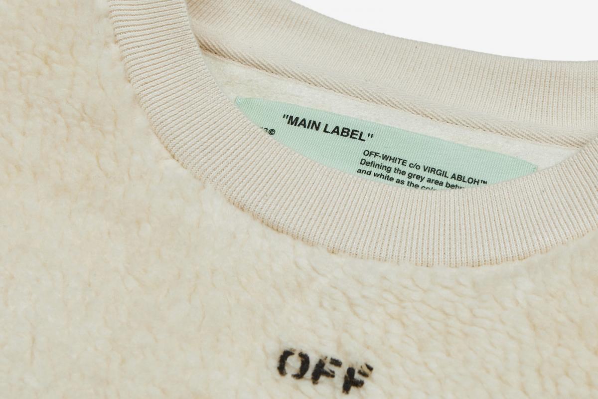 Seeing Things Shearling Crewneck Sweatshirt