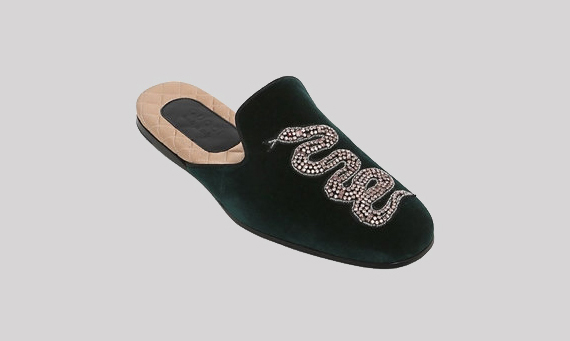Velvet evening Slippers