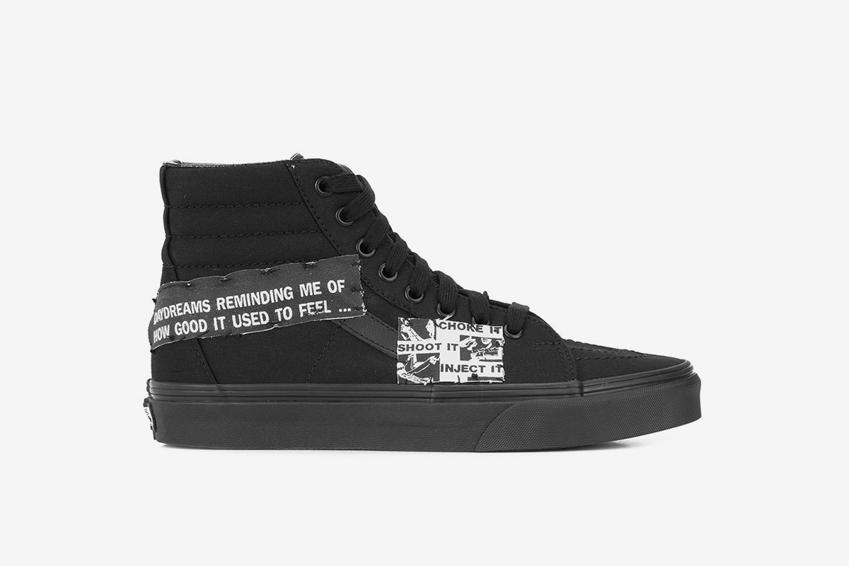 Hi-Top Patch Sneakers