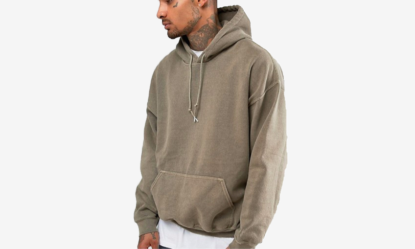 Oversized Hoodie in Stone