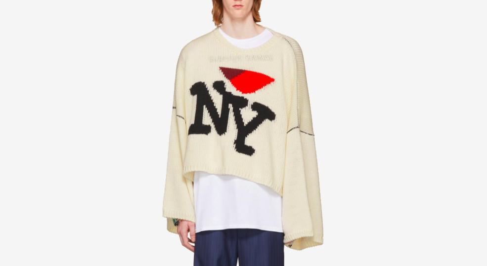 Oversized 'I Love You' Sweater