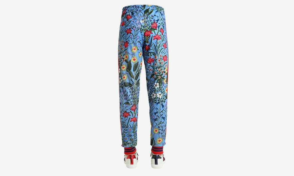 Floral Print Jersey Track Pants