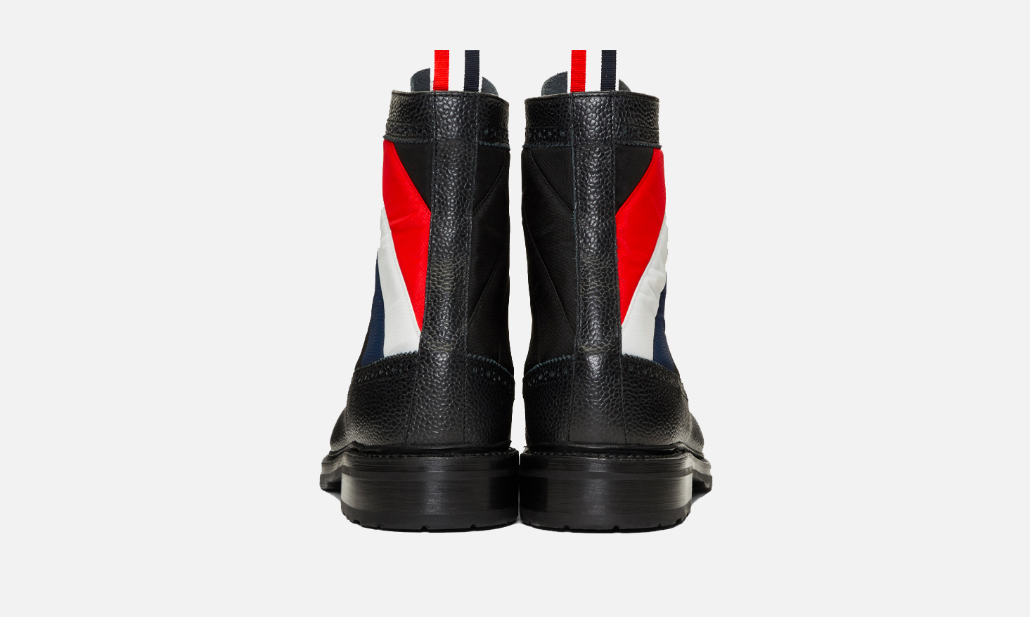 Quilted Nylon High Boots