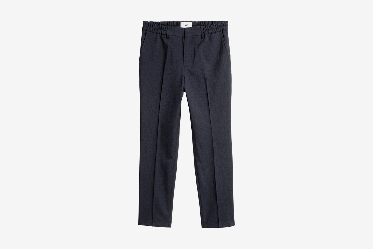 Elasticized Wool Pants