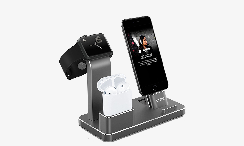 i-Phone X and Apple Watch Stand