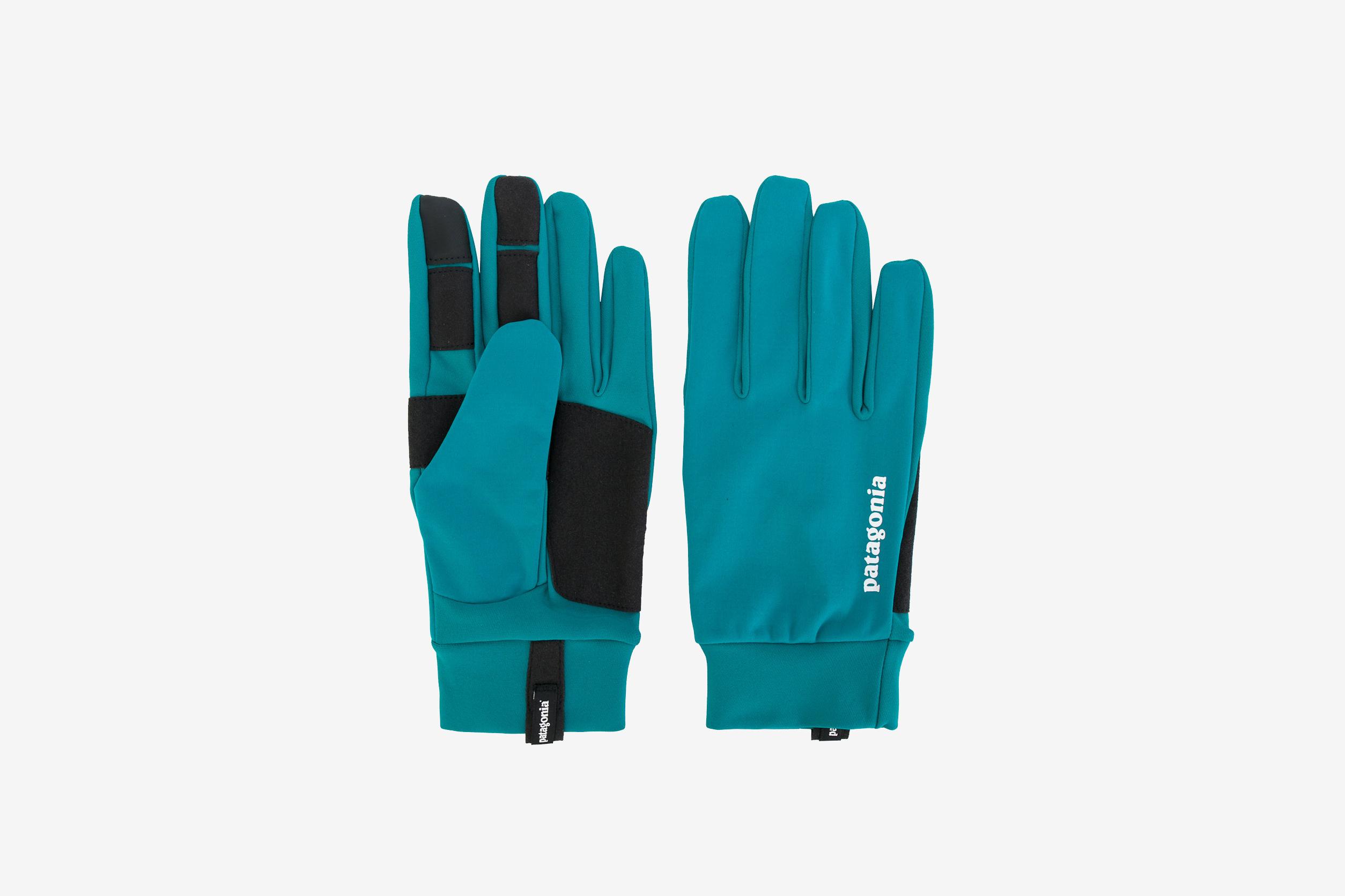 E-Tip Panelled Logo Gloves