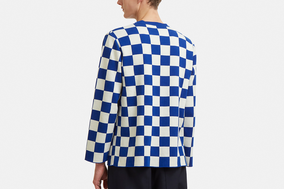 Checked Knit Longsleeve