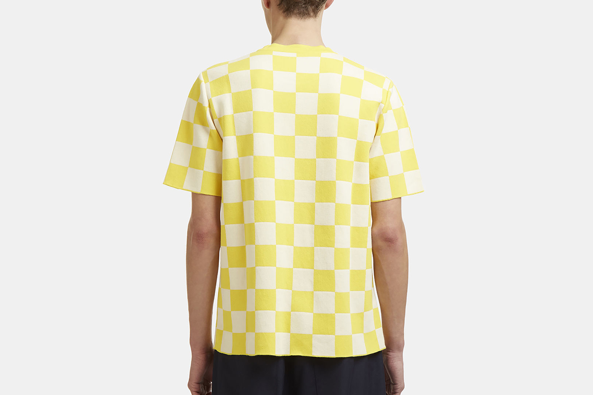 Checked Knit T-Shirt