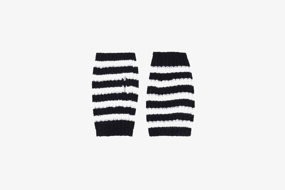 Wool Cable Knit Fingerless Gloves