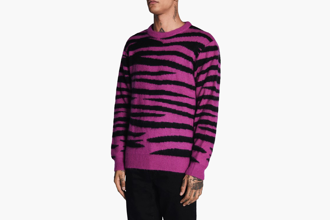 Zebra Mohair Sweater