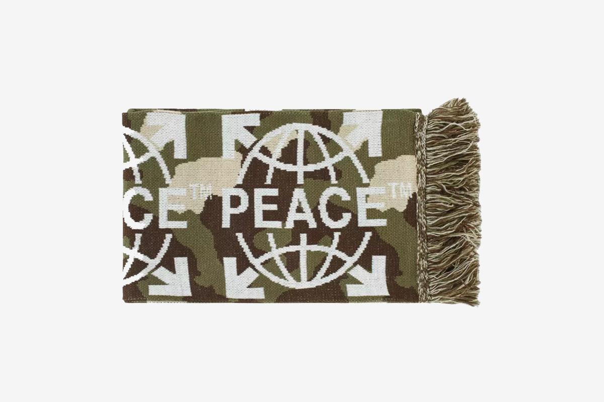 Camoflague Peace Scarf