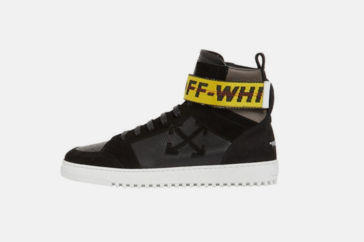 Towing Strap Leather High Top Sneaker