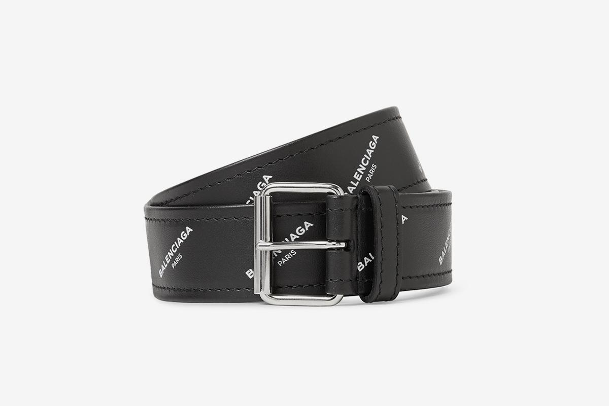 Logos Leather Belt