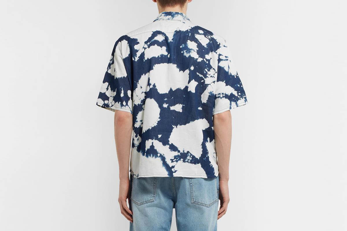 D Tie-Dyed Half-Zip Shirt