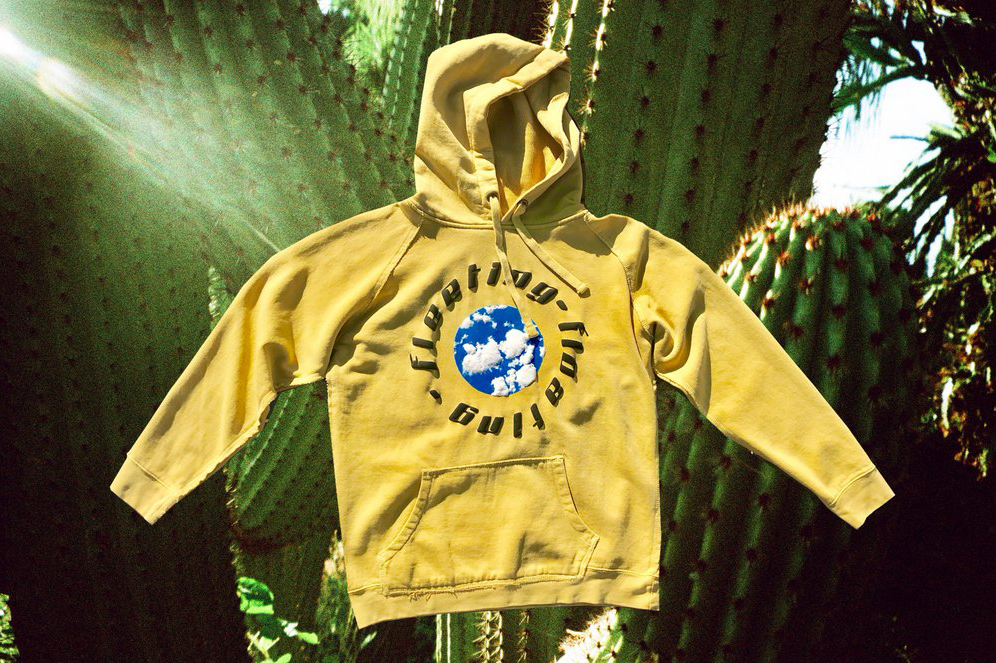 Fleeting ---- Floating Hooded Waffle Sweatshirt