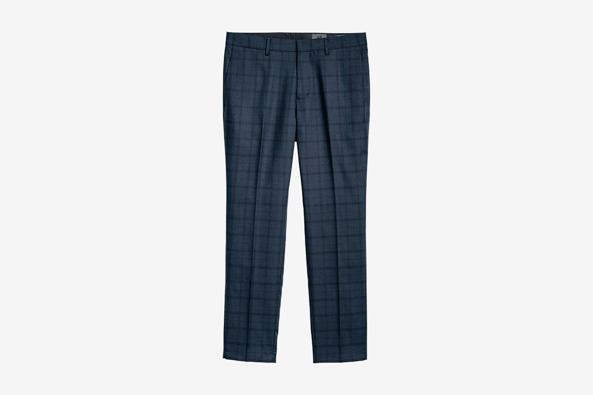 Checked Suit Pants