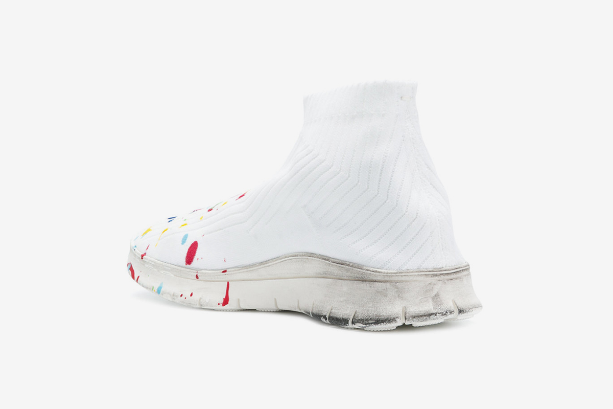 Paint Splatter Sock Sneaker