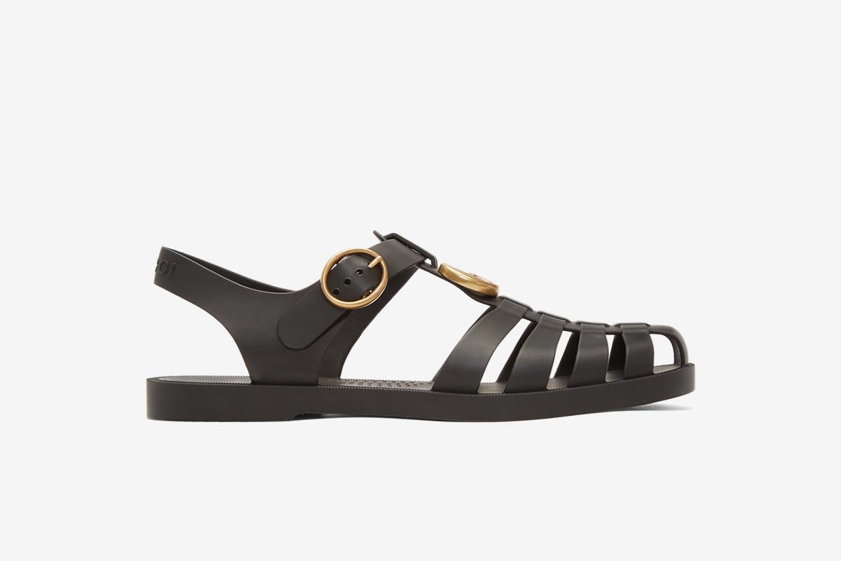 GucciGlossy Rubber Sandals Ueb2TtvS9u