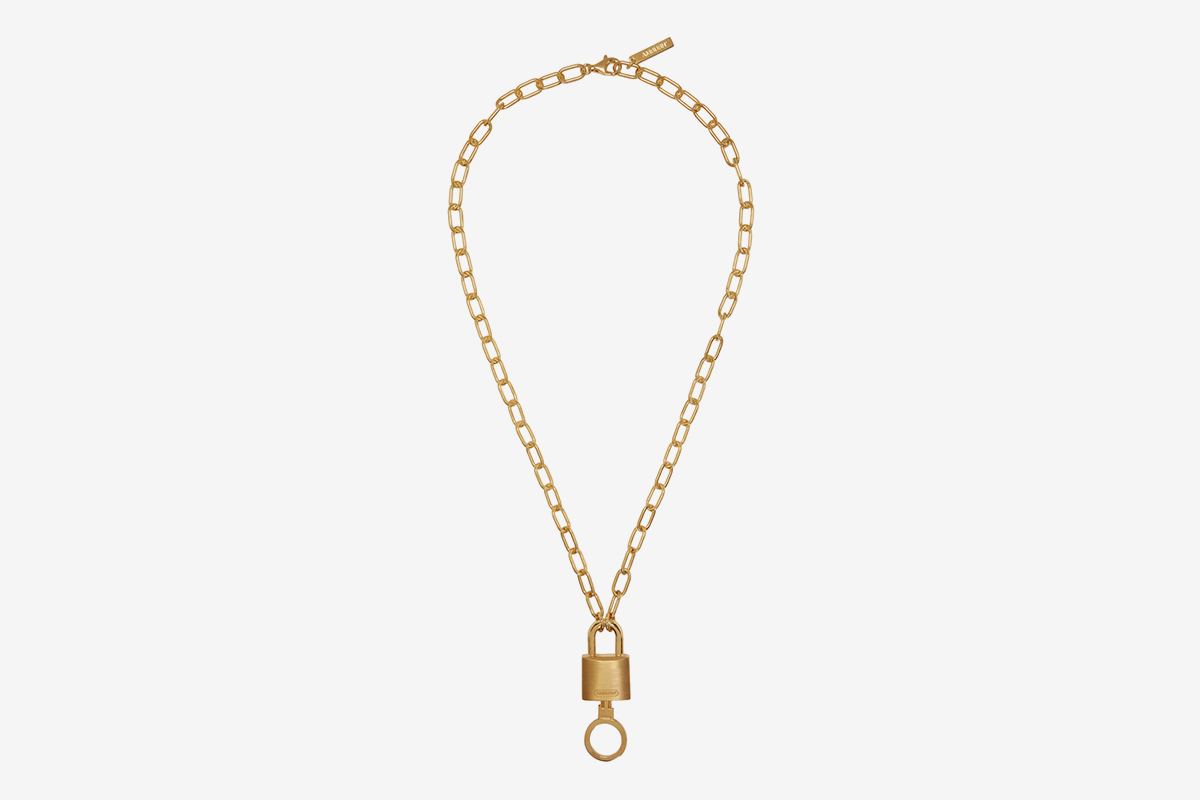 Padlock Charm Necklace