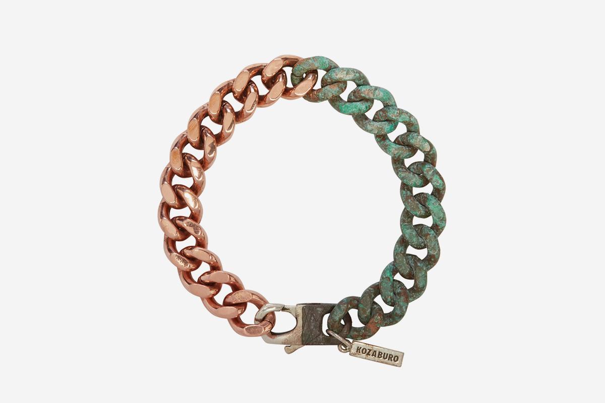 Copper Half Rusted Bracelet