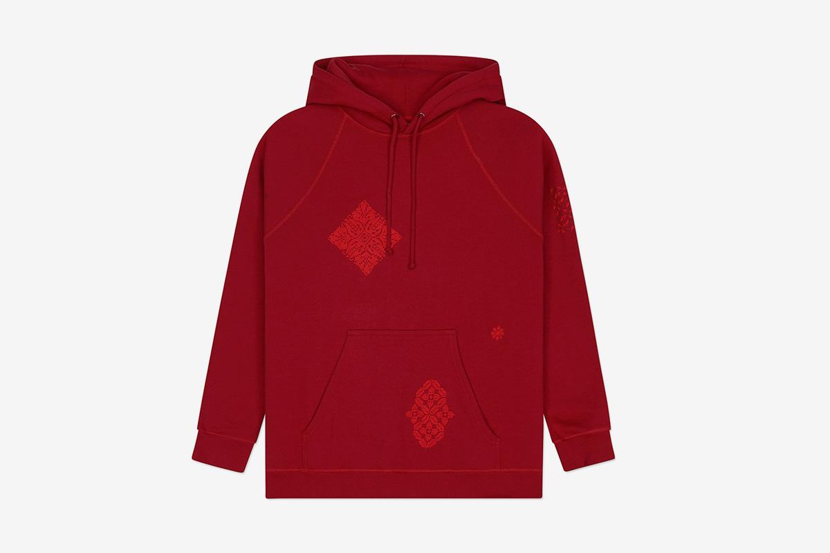 Mix Pattern Hoodie