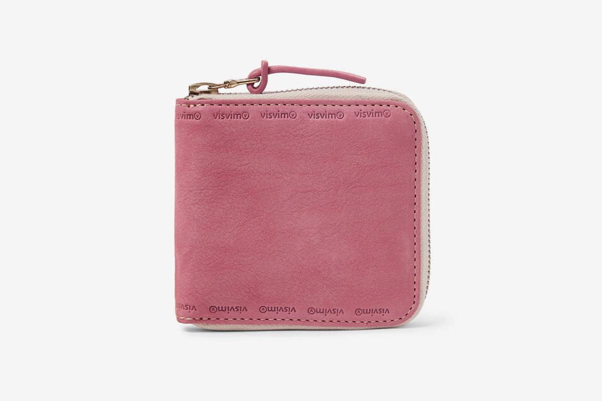 Nubuck Zip-Around Wallet