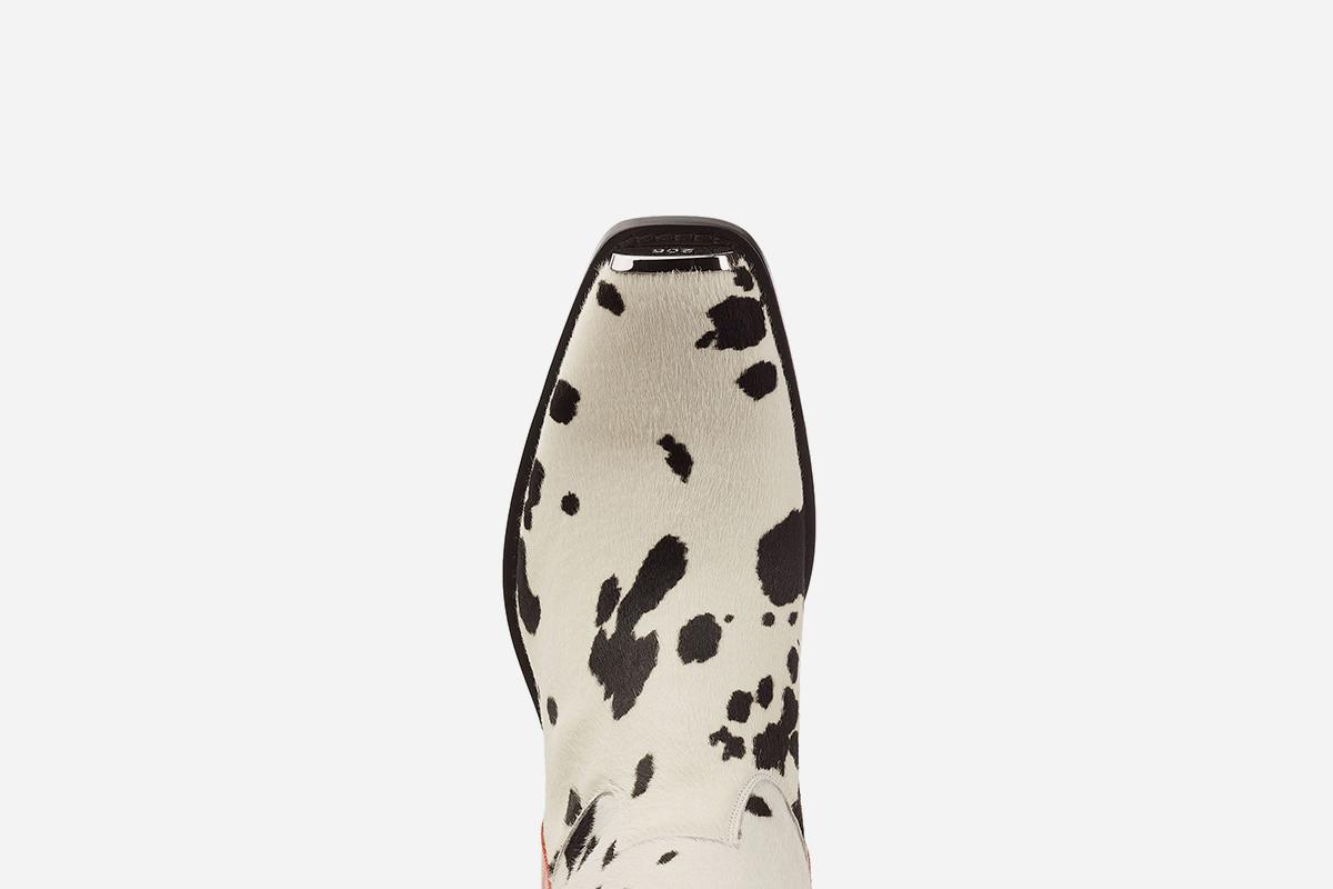 Western Ed Printed Calf Hair Knee Boots