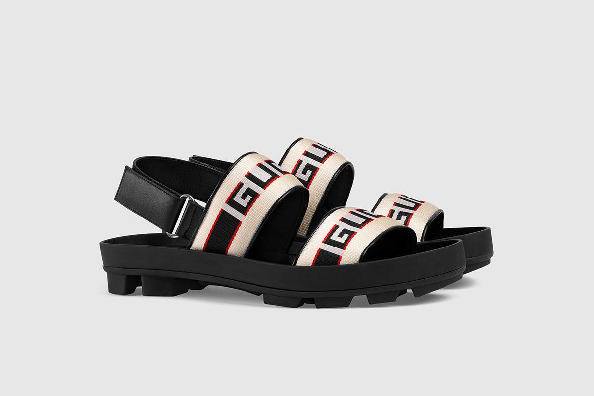 Stripe Strap Sandal