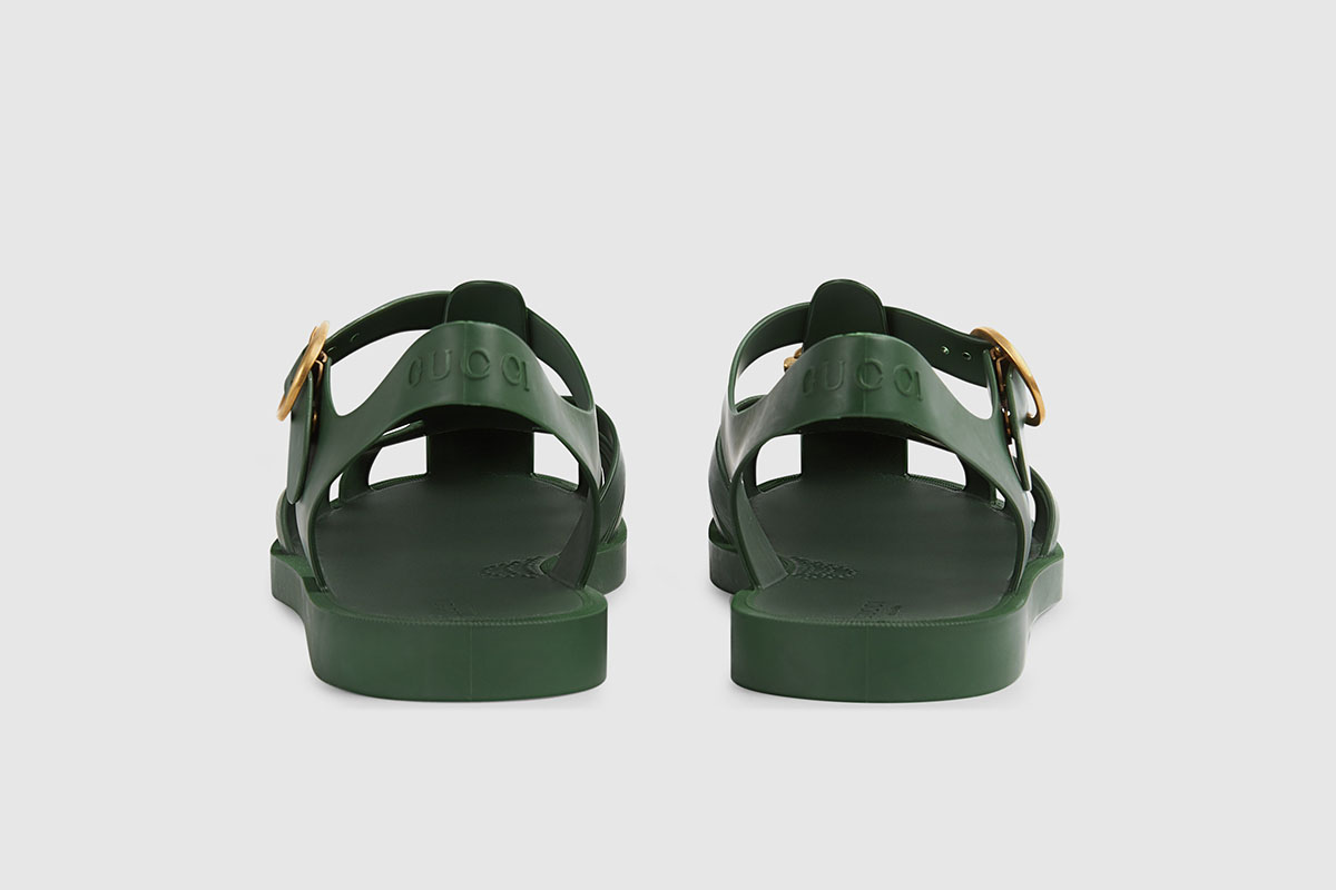 Rubber Buckler Strap Sandal