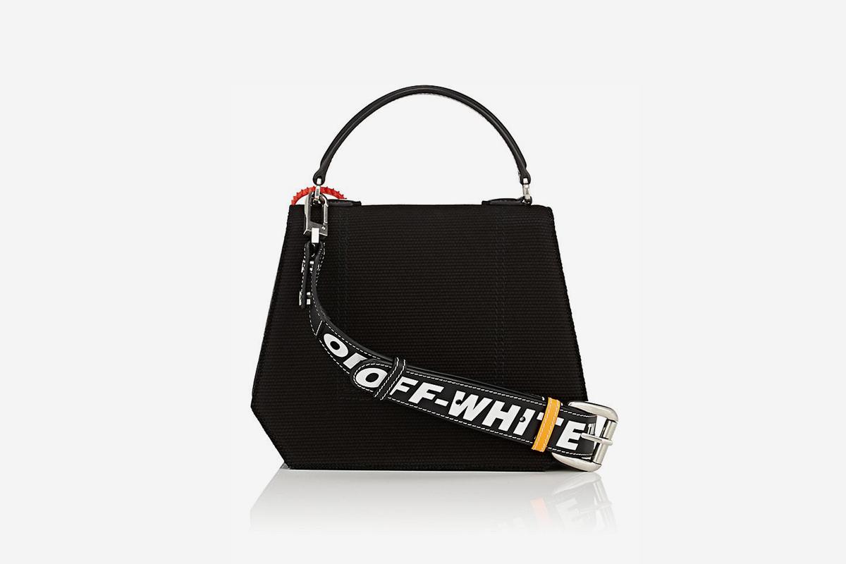 Binder-Clip Canvas Crossbody Bag