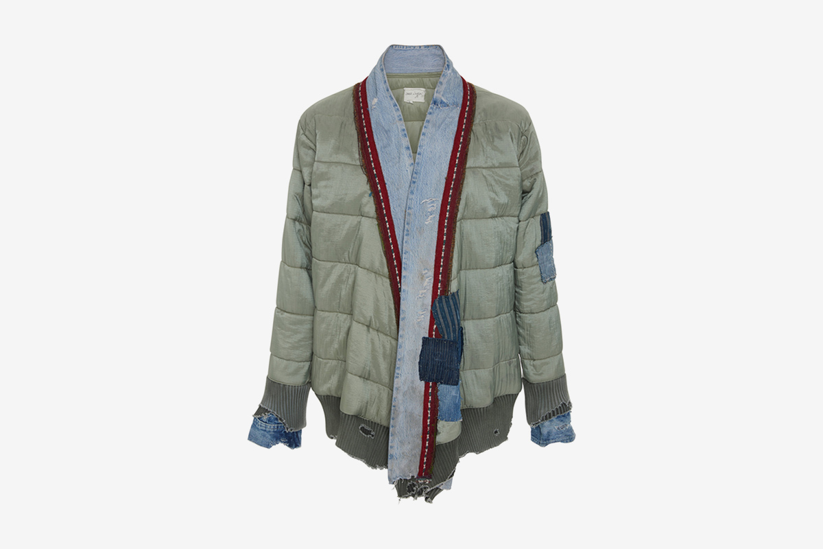 Patchwork Quilted-Shell & Denim Jacket