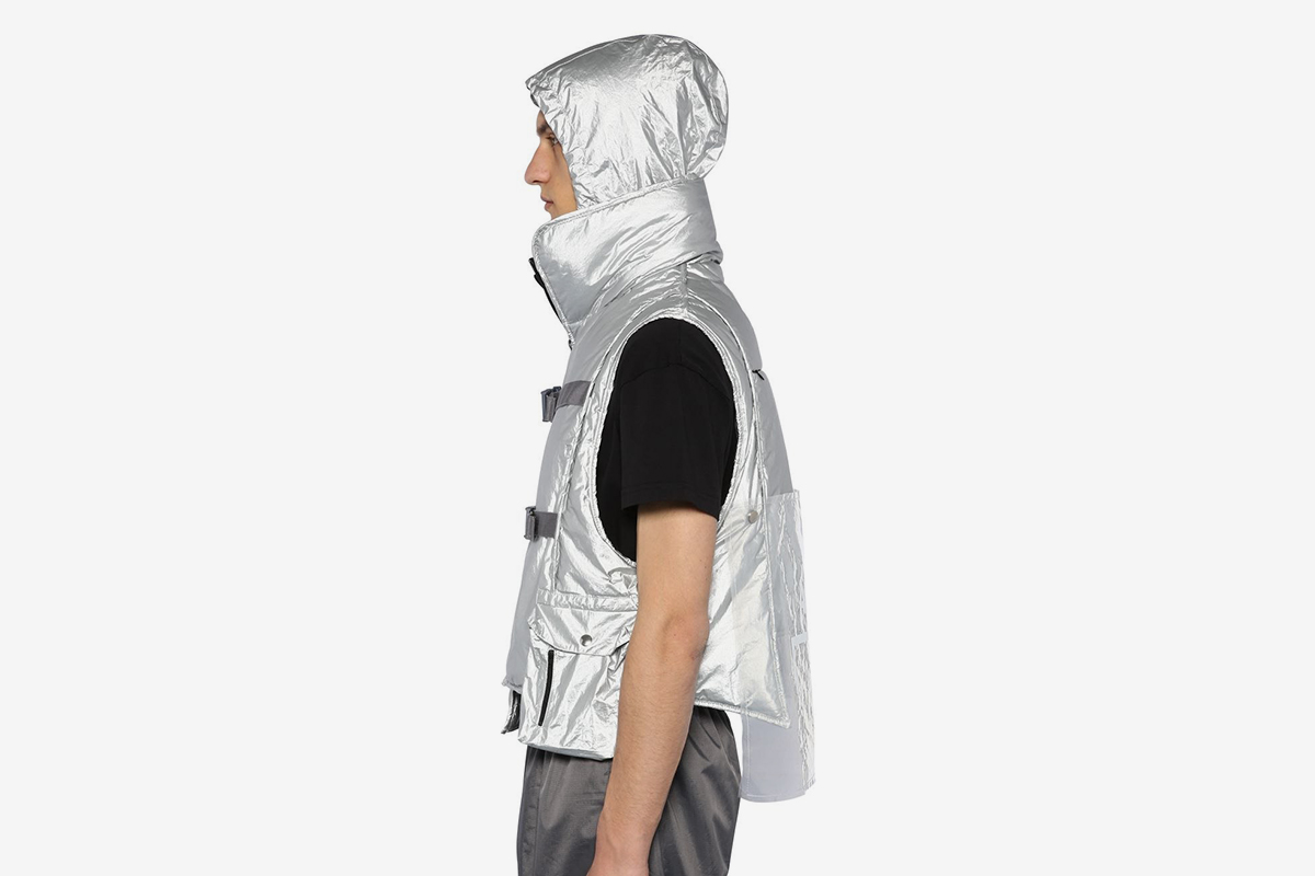 Metallic Cropped Vest