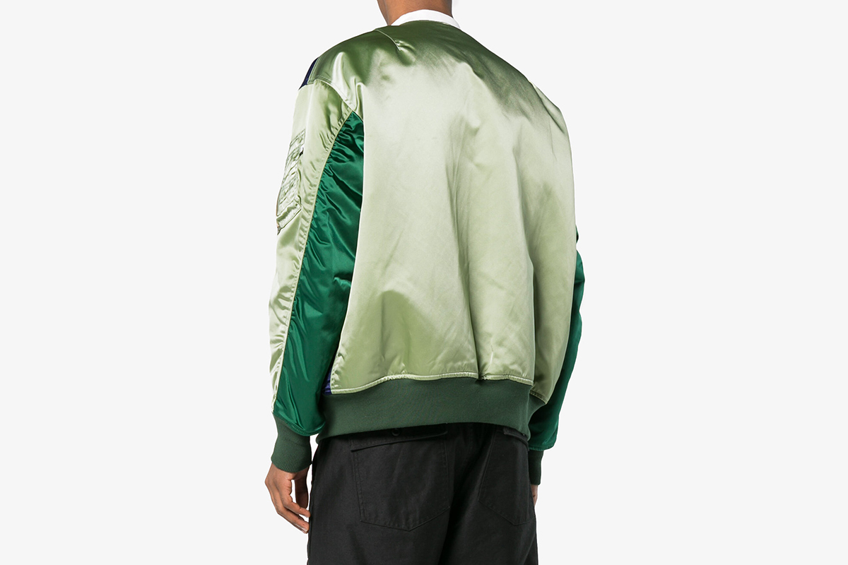 Panelled Collarless Bomber