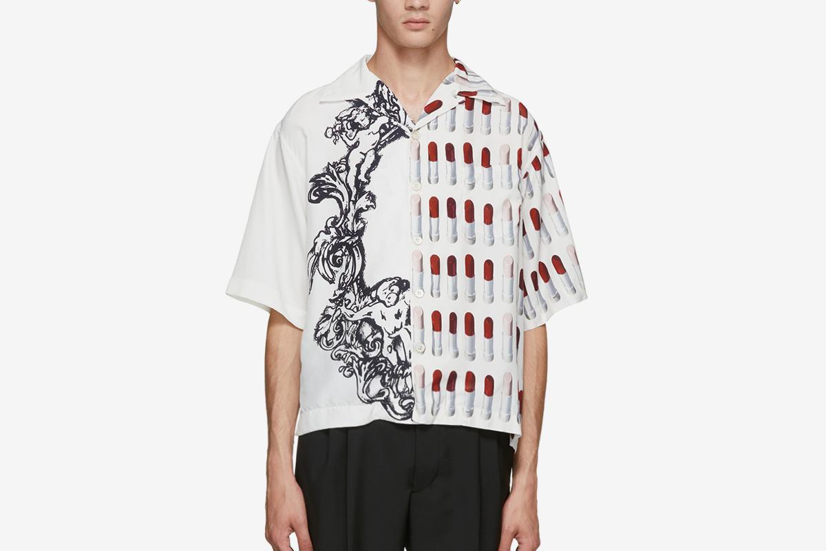 Lipstick & Baroque Shirt