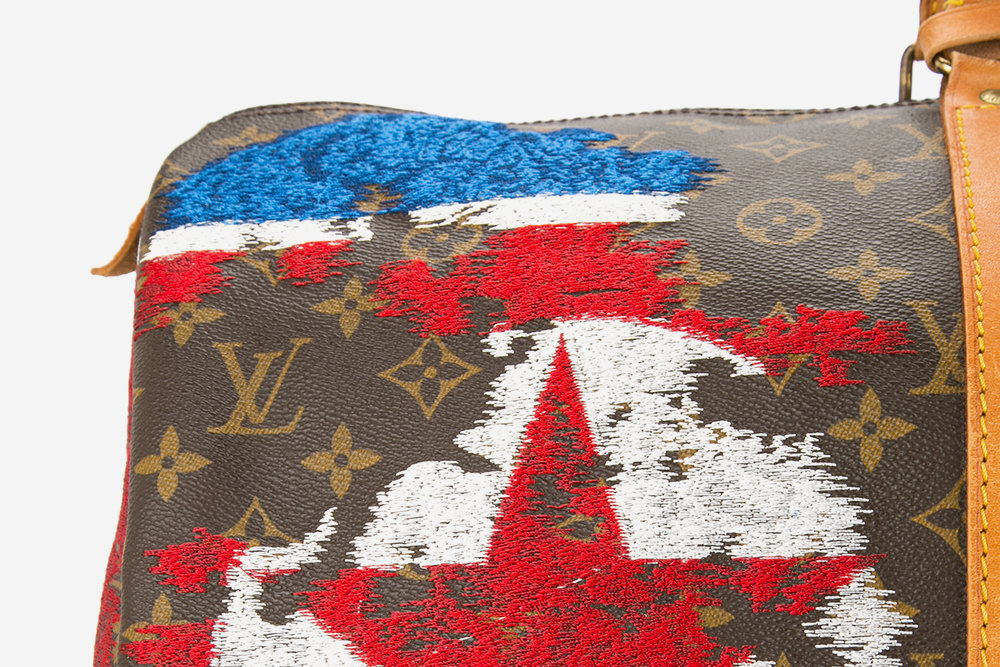 North Korea Flag Vintage Louis Vuitton Keepall