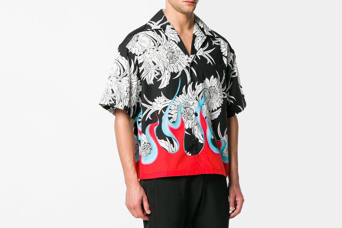 Floral & Flames Shirt