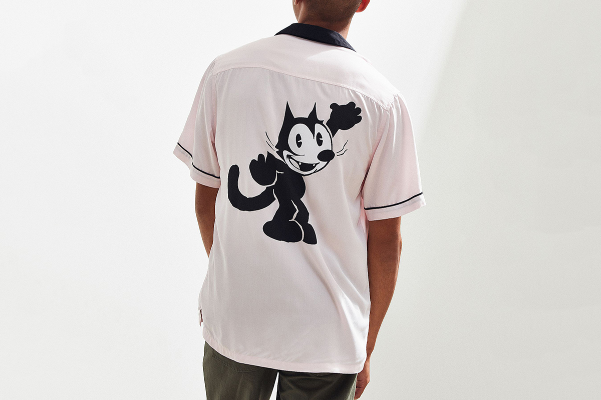 Felix The Cat Bowling Shirt