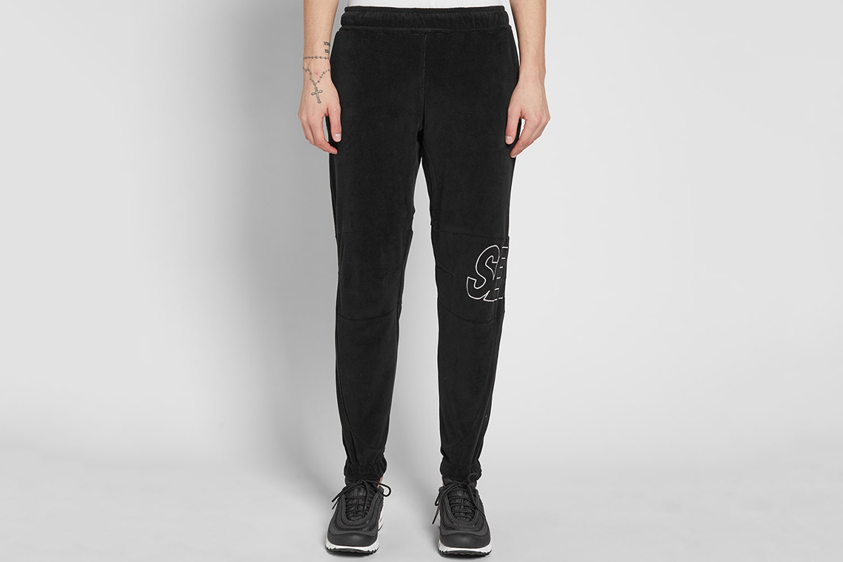 Embroidered Velour Jogger