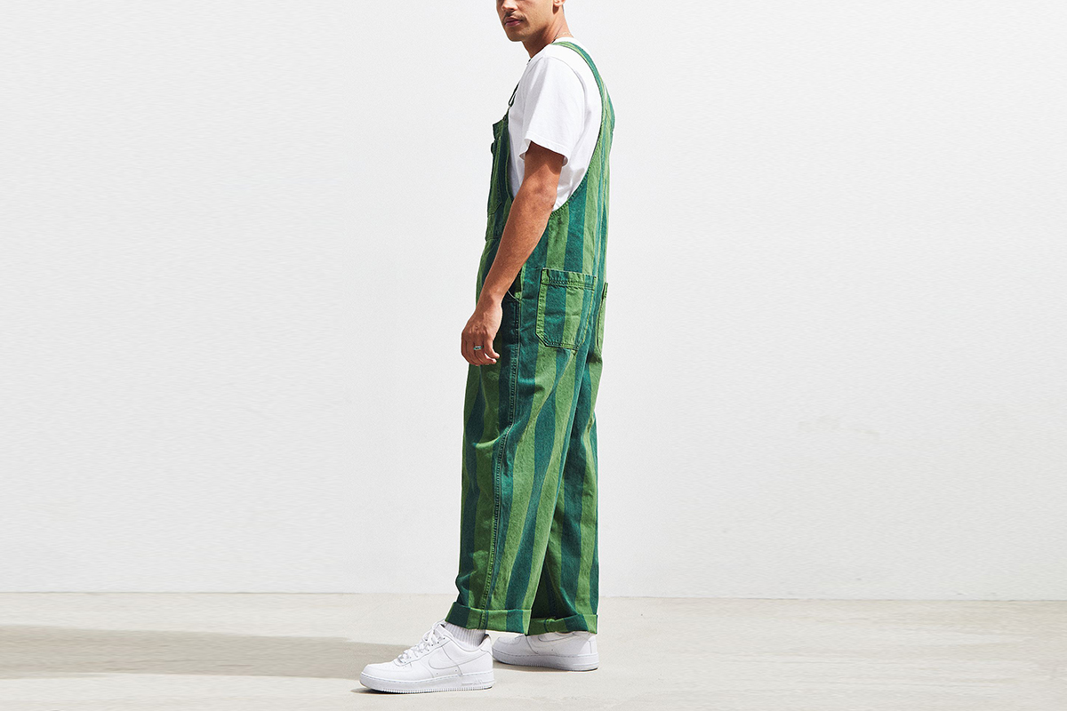 Overdyed Striped Overall